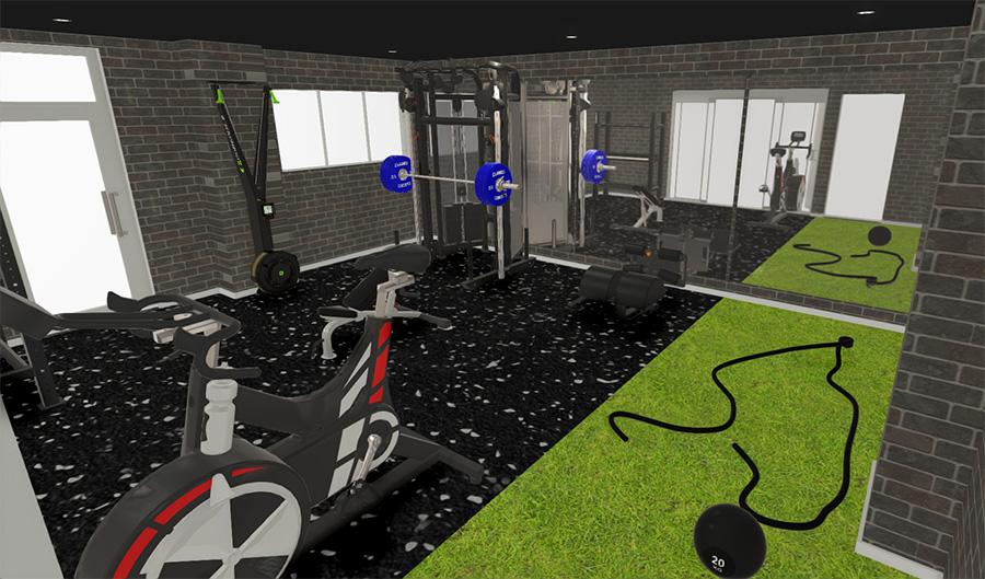 Fitness Bricks gym installation